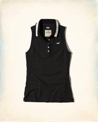 Slim Sleeveless Polo