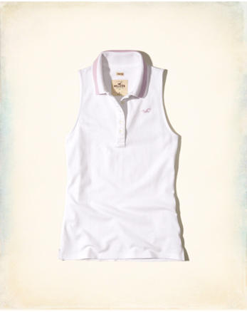 hol Slim Sleeveless Polo