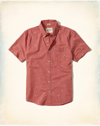 hol Patterned Stretch Poplin Shirt