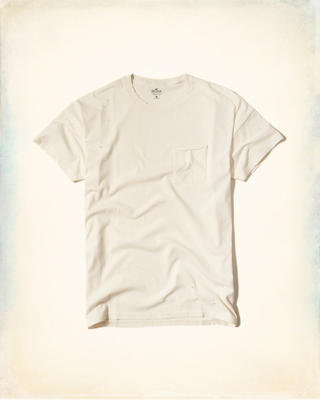 Distressed Boxy Pocket T-Shirt