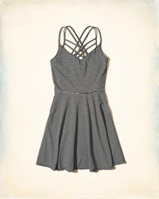 Strappy Knit Skater Dress