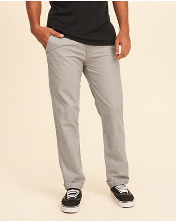 hol Slim Straight Chambray Chino Pants