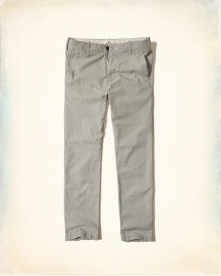 Slim Straight Chambray Chino Pants
