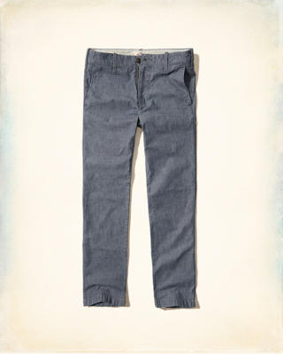 Slim Straight Chambray Chinos