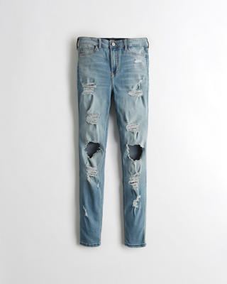 Shredded High-Rise Super Skinny Jeans