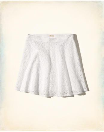 hol Eyelet Skater Skirt