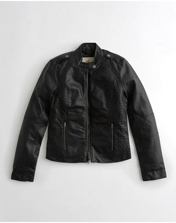hol Vegan Leather Moto Jacket