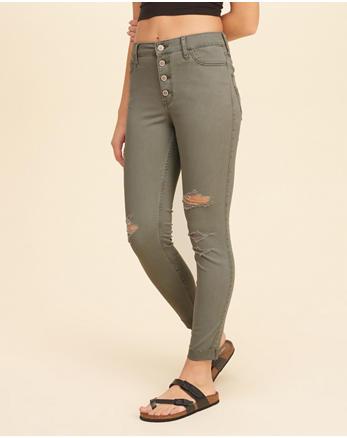 hol High-Rise Crop Super Skinny Pants