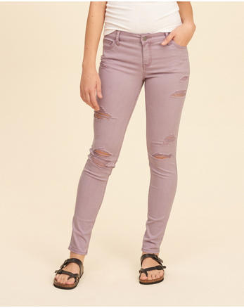hol Stretch Low-Rise Super Skinny Pants
