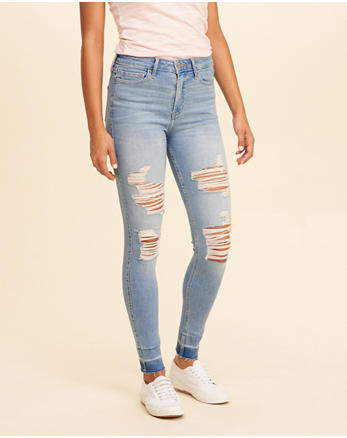 hol Hollister Shape Love High-Rise Super Skinny Jeans