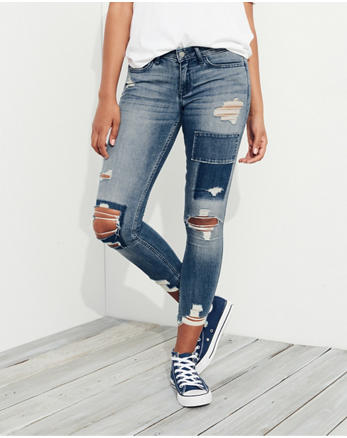 hol Low-Rise Crop Super Skinny Jeans