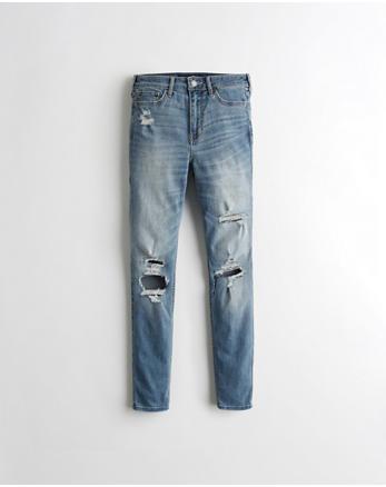 hol High-Rise Crop Super Skinny Jeans
