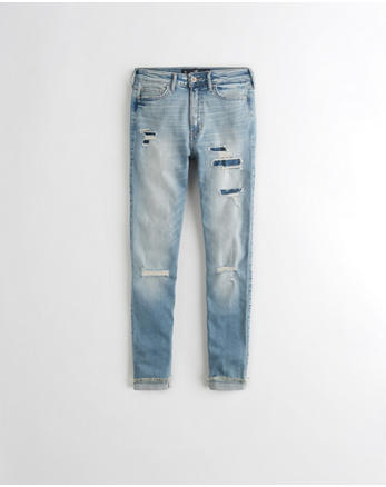 hol Hollister Shape Love High-Rise Crop Super Skinny Jeans