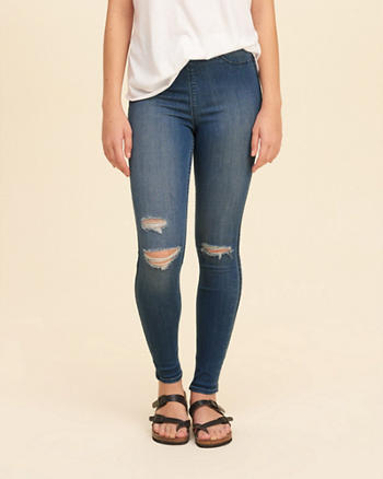 High-Rise Pull-On Jean Leggings