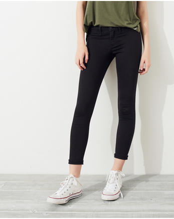 hol Advanced Stretch Low-Rise Crop Jean Leggings