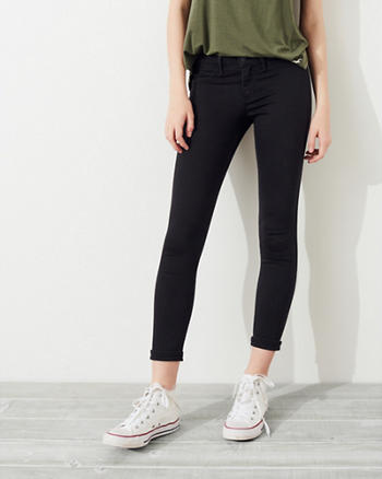 Advanced Stretch Low-Rise Crop Jean Leggings