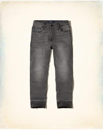 hol Stretch High-Rise Crop Slim Boyfriend Jeans