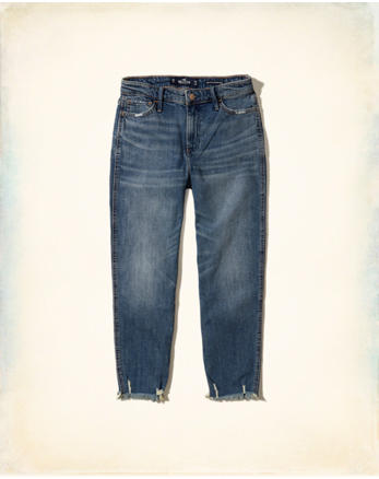 hol Stretch High-Rise Slim Boyfriend Crop Jeans