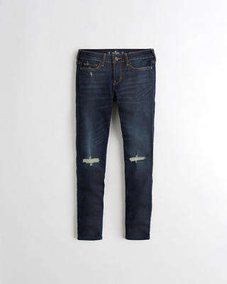 Low-Rise Crop Super Skinny Jeans