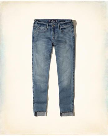 hol Hollister Shape Love Low-Rise Crop Super Skinny Jeans