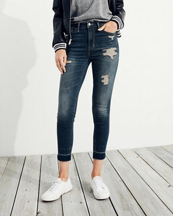 Hollister Shape Love High-Rise Crop Super Skinny Jeans