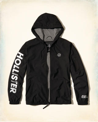 Jersey-Lined Nylon Windbreaker