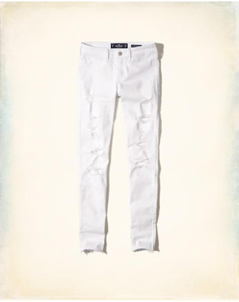 hol Stretch Low-Rise Super Skinny Jeans