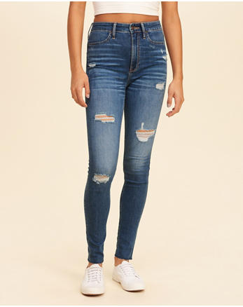 hol Stretch Ultra High-Rise Super Skinny Jeans