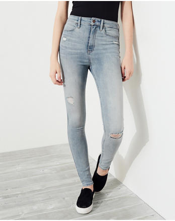 hol Super Skinny Jeans a Vita Ultra Alta