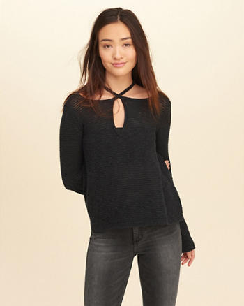Strappy Tie-Back Sweater