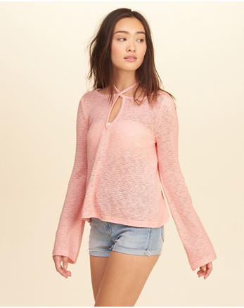 hol Strappy Tie-Back Sweater
