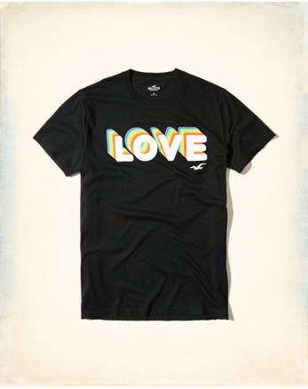 hol Hollister Pride Collection Graphic Tee
