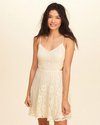 Cutout Lace Skater Dress
