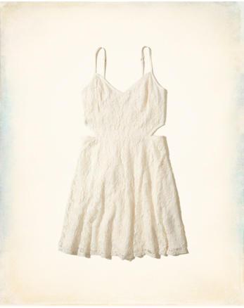 hol Cutout Lace Skater Dress