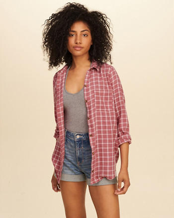Oversized Plaid Shirt