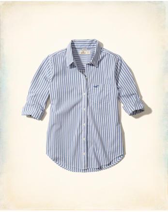 hol Button-Front Woven Shirt