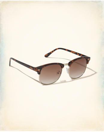 hol Half-Frame Round Sunglasses