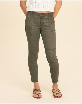 hol Low-Rise Crop Super Skinny Pants