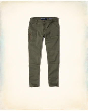 hol Stretch Low-Rise Crop Super Skinny Pants