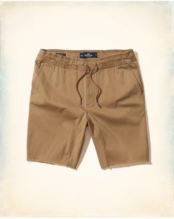 Twill Cutoff Jogger Shorts