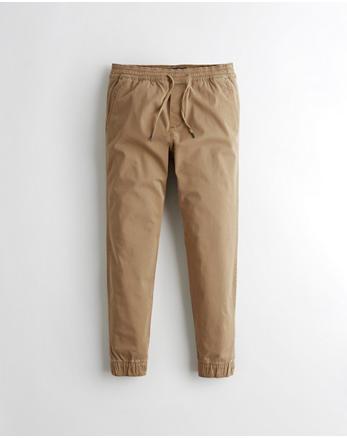 84877f4a4c Pantalones ajustados tipo jogging de sarga con elasticidad avanzada