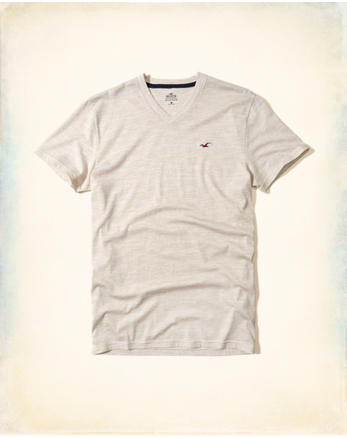 hol Must-Have Textured V Neck T-Shirt