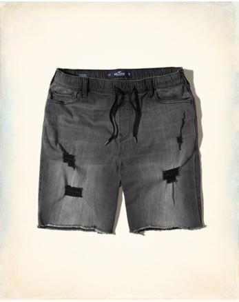 hol Denim Cutoff Jogger Shorts