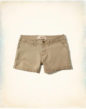 hol Low-Rise Twill Midi Shorts