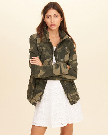 Camo Twill Shirt Jacket