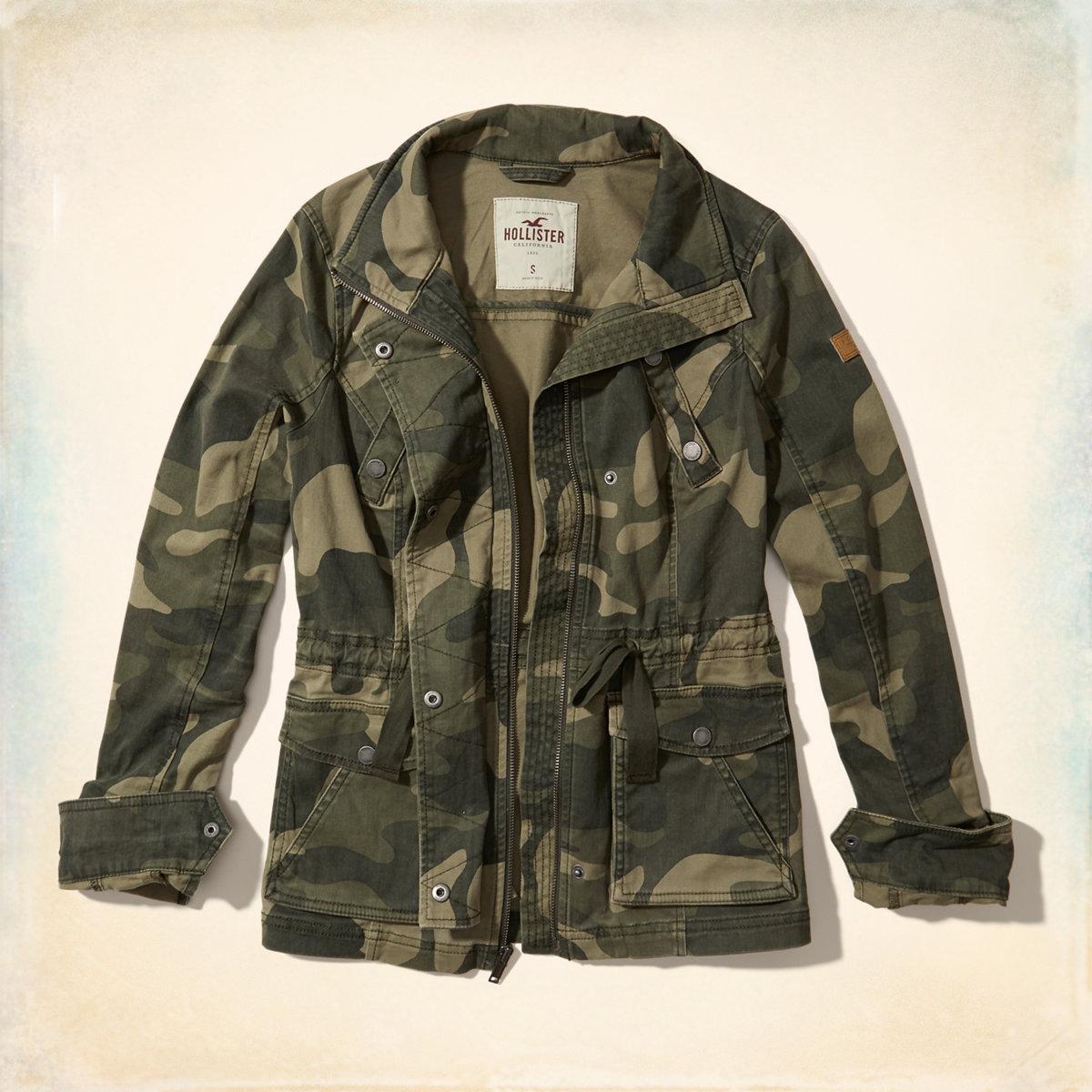 Camo Twill Shirt Jacket