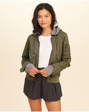 hol Hooded Bomber Jacket