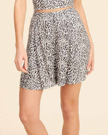 Patterned Skater Skirt