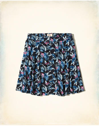 hol Patterned Skater Skirt
