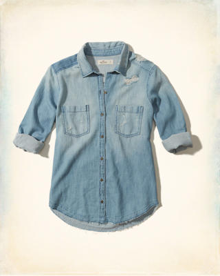 Distressed Woven Shirt
